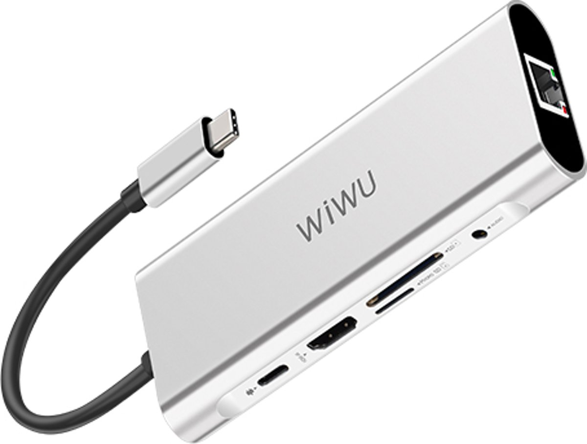 Apollo A931HRT 9-in-1 Aluminium Case  USB Type-C Hub Convertor - Grijs