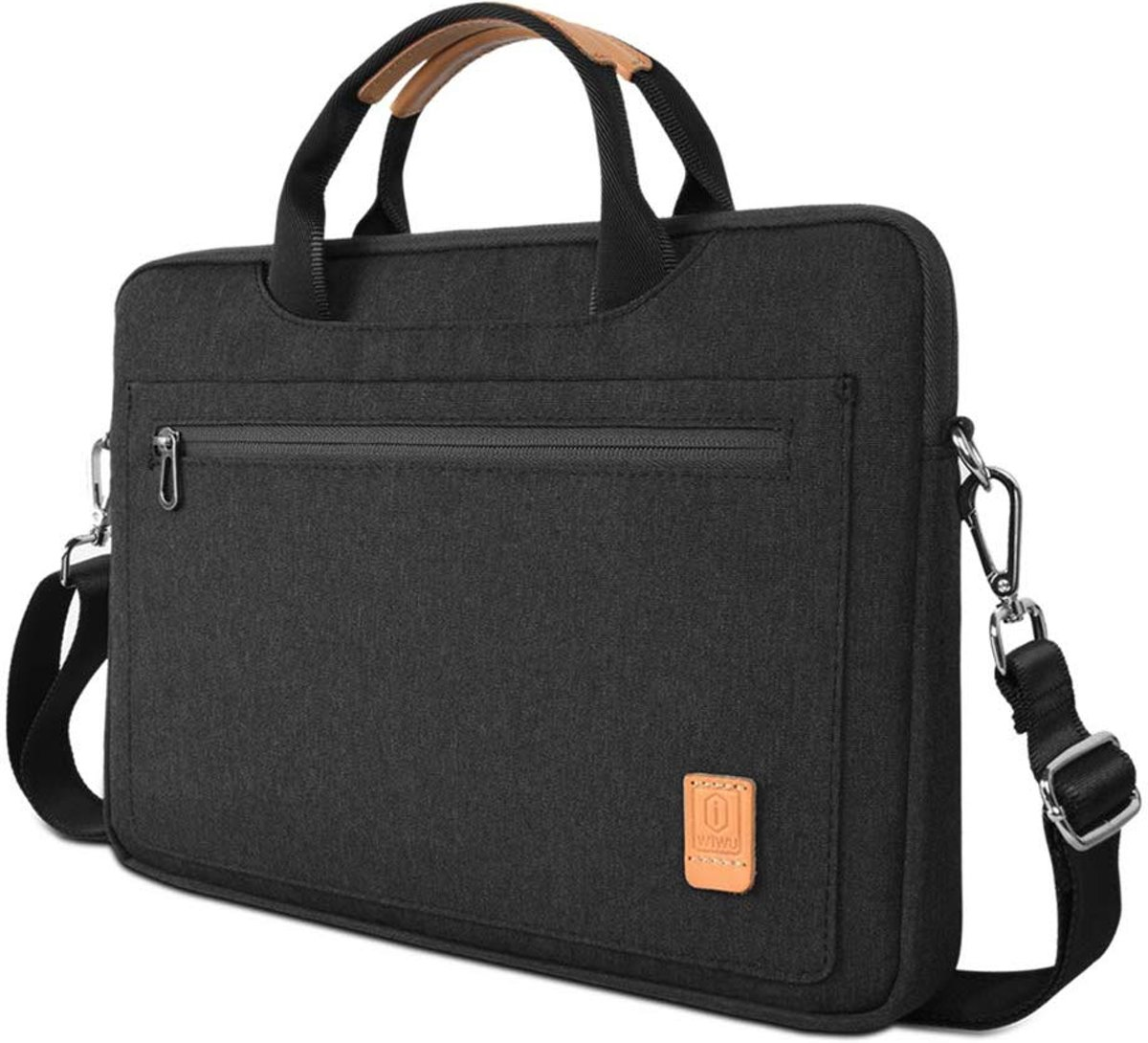 Apple Macbook Pro (2019) Laptop Tas - 13.3 inch Pioneer Waterafstotende laptoptas met schouderband - Zwart
