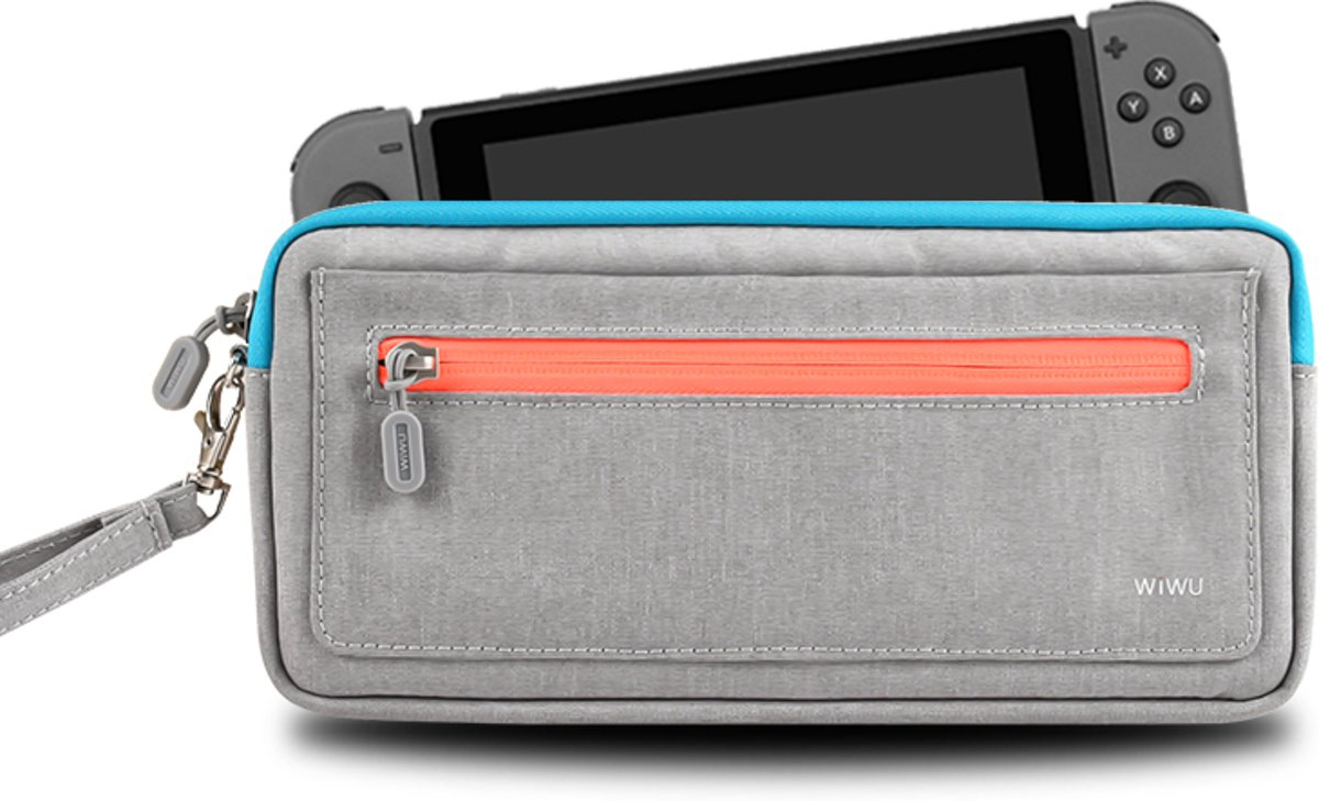 Case Cozy Opbergtas Waterproof Storage voor Nintendo Switch - Grijs