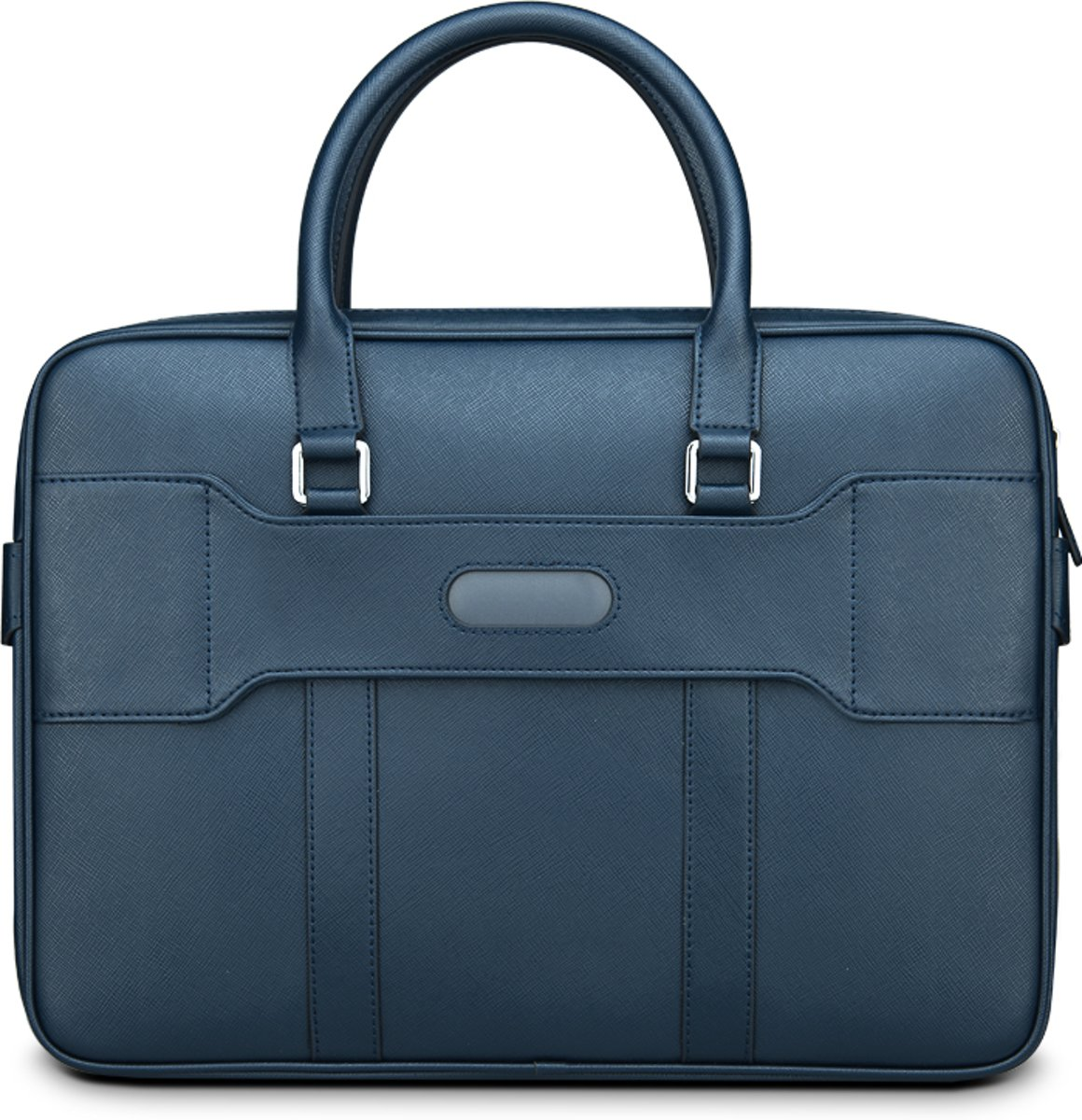 Classic PU Leather Brief Case Laptoptas 14 inch - Blauw