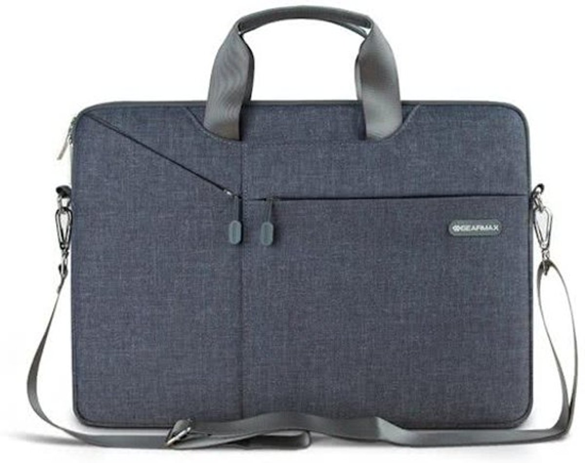 Gent Brief Sleeve Shoudertas Laptop 15 inch - Grijs