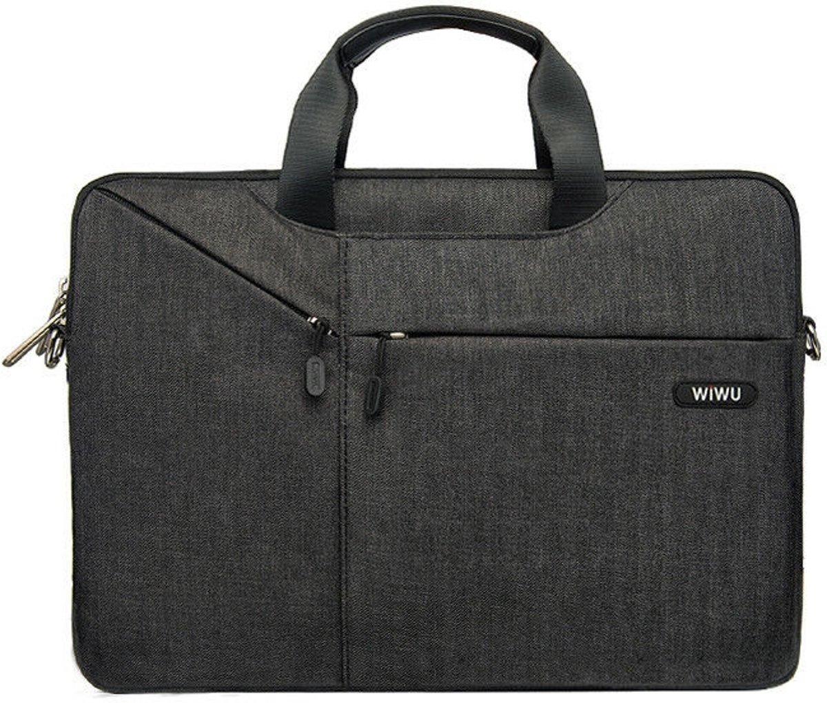 Laptoptas voor 15.4 inch laptop - WIWU City Commuter Bag - Zwart