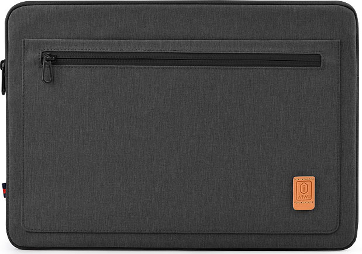 Lenovo ThinkPad laptop sleeve - Waterafstotend Polyester hoes met extra opbergvak - 13.3 inch - Zwart
