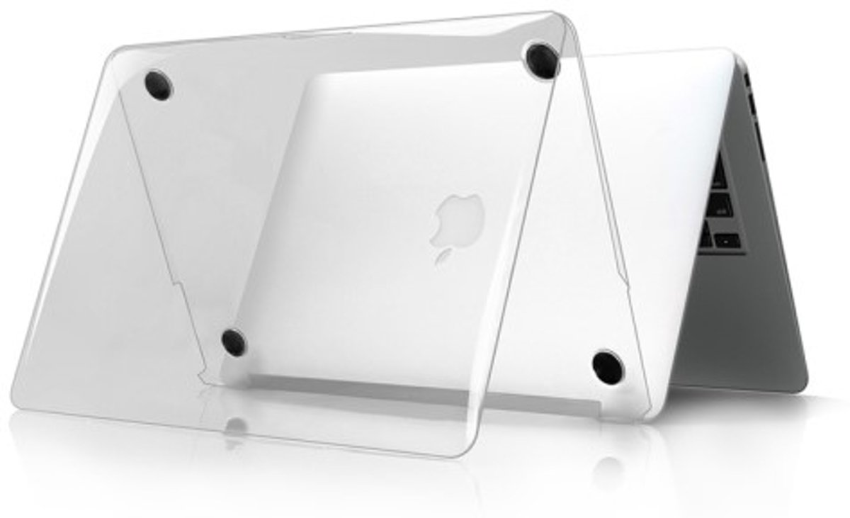 Ultra Thin Hard Case Cover Anti-scratch voor Apple MacBook Pro 15.4 inch Touch Bar (Model: A1707 / A1990) - Zwart Transparant