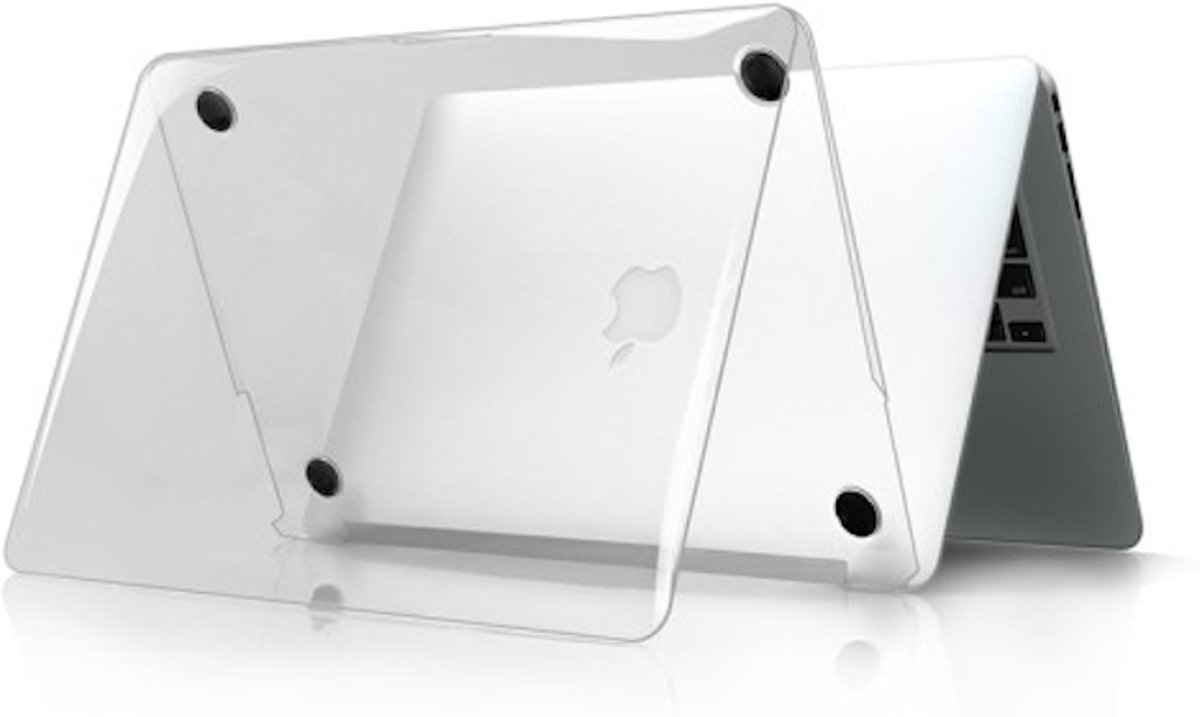 Ultra Thin Hard Case Cover Anti-scratch voor Apple MacBook Retina 12 inch  - Zwart Transparant
