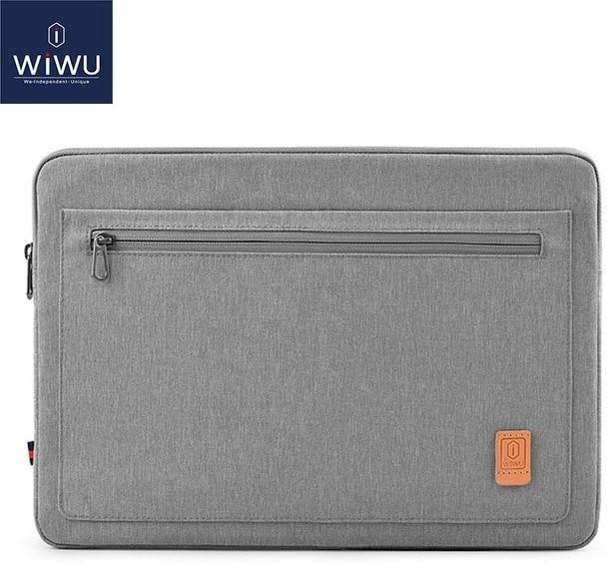 WIWU - 15,4 inch Pioneer Laptop & Macbook Sleeve - Grijs