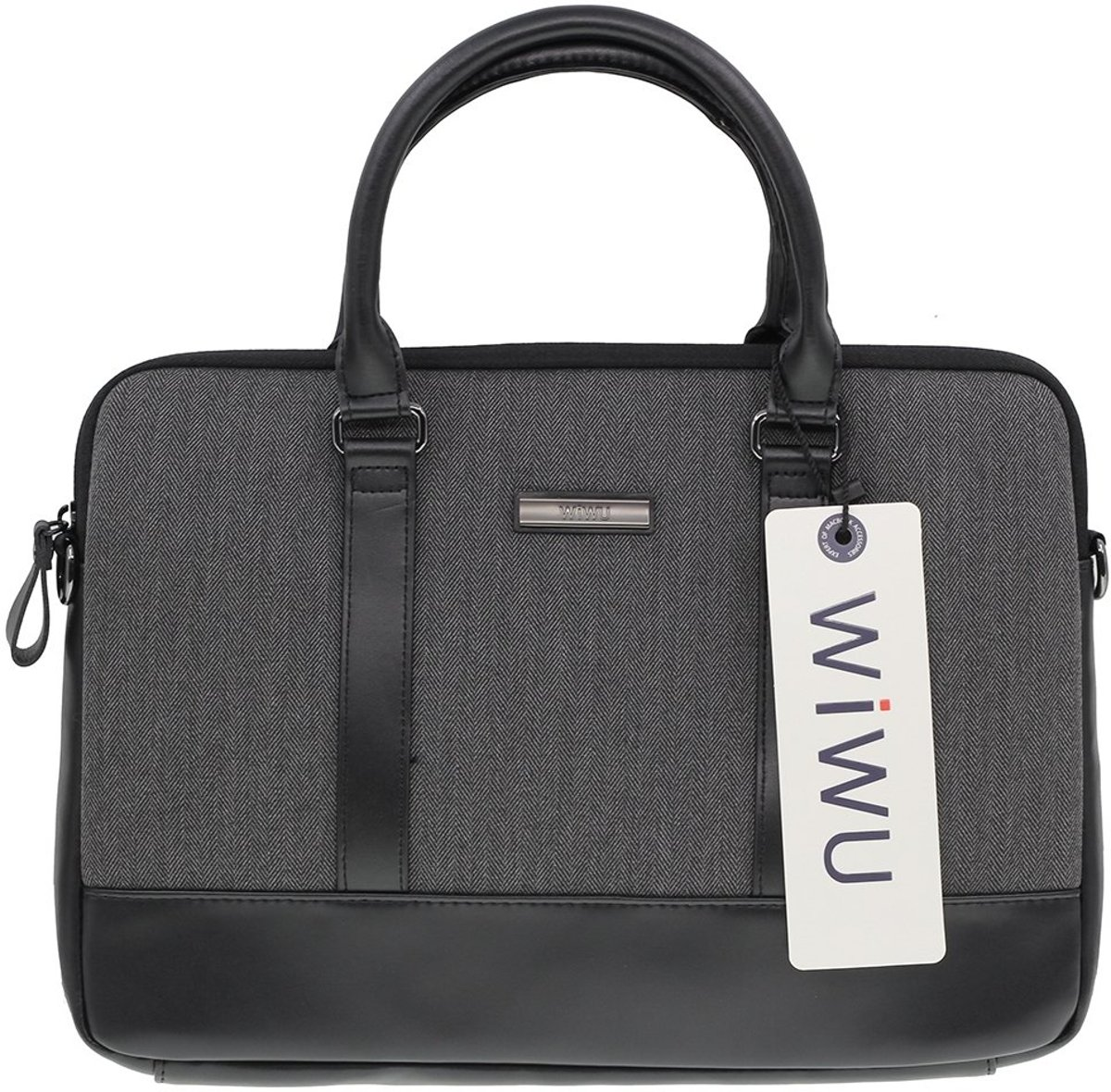 WiWu - 15.4 inch Laptoptas - London Brief Case Zwart