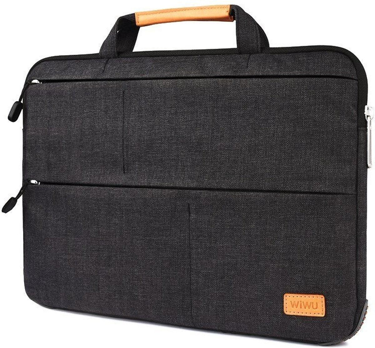 WiWu - Laptop sleeve 15.4 inch - Smart Stand Laptoptas - Zwart