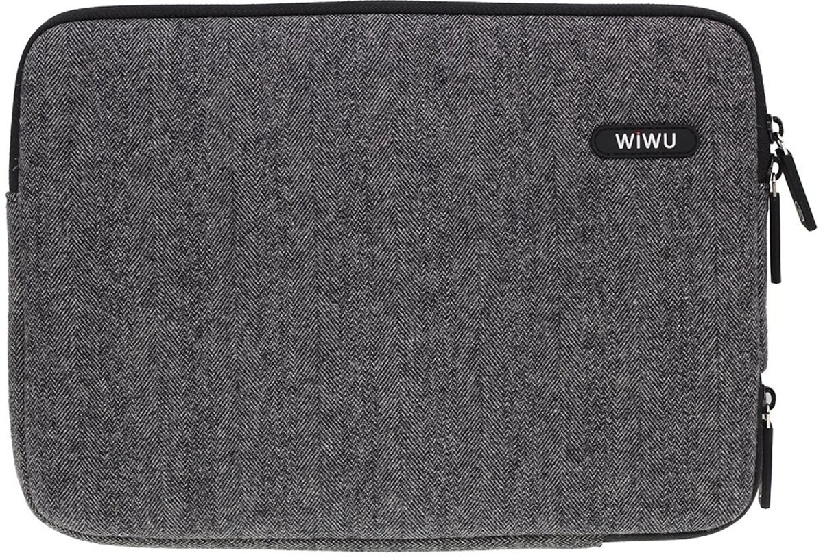 WiWu - MacBook Pro 13 inch Sleeve - London Classic Zwart
