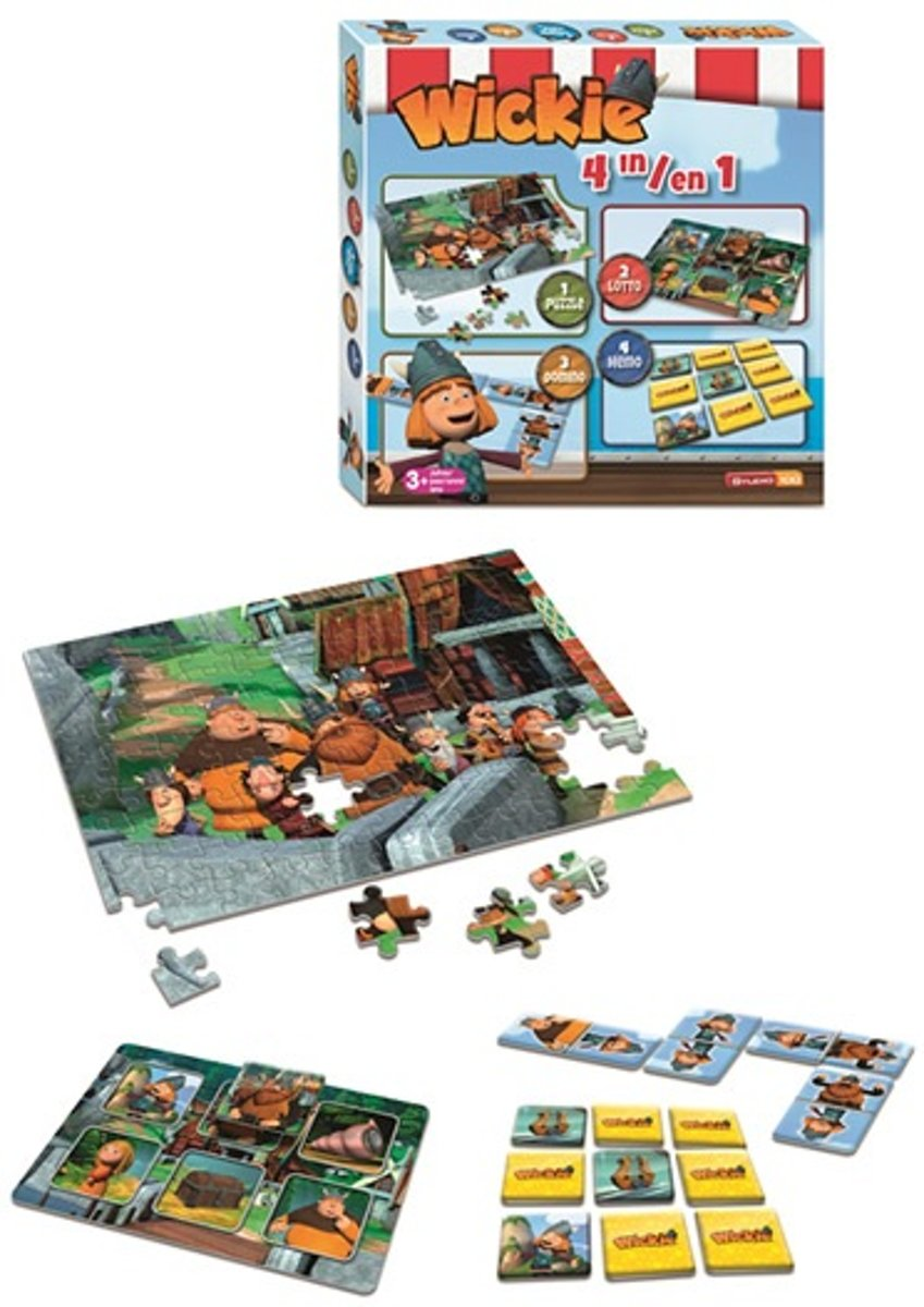 Wickie de Viking 4 In 1 Speldoos - Kinderspel