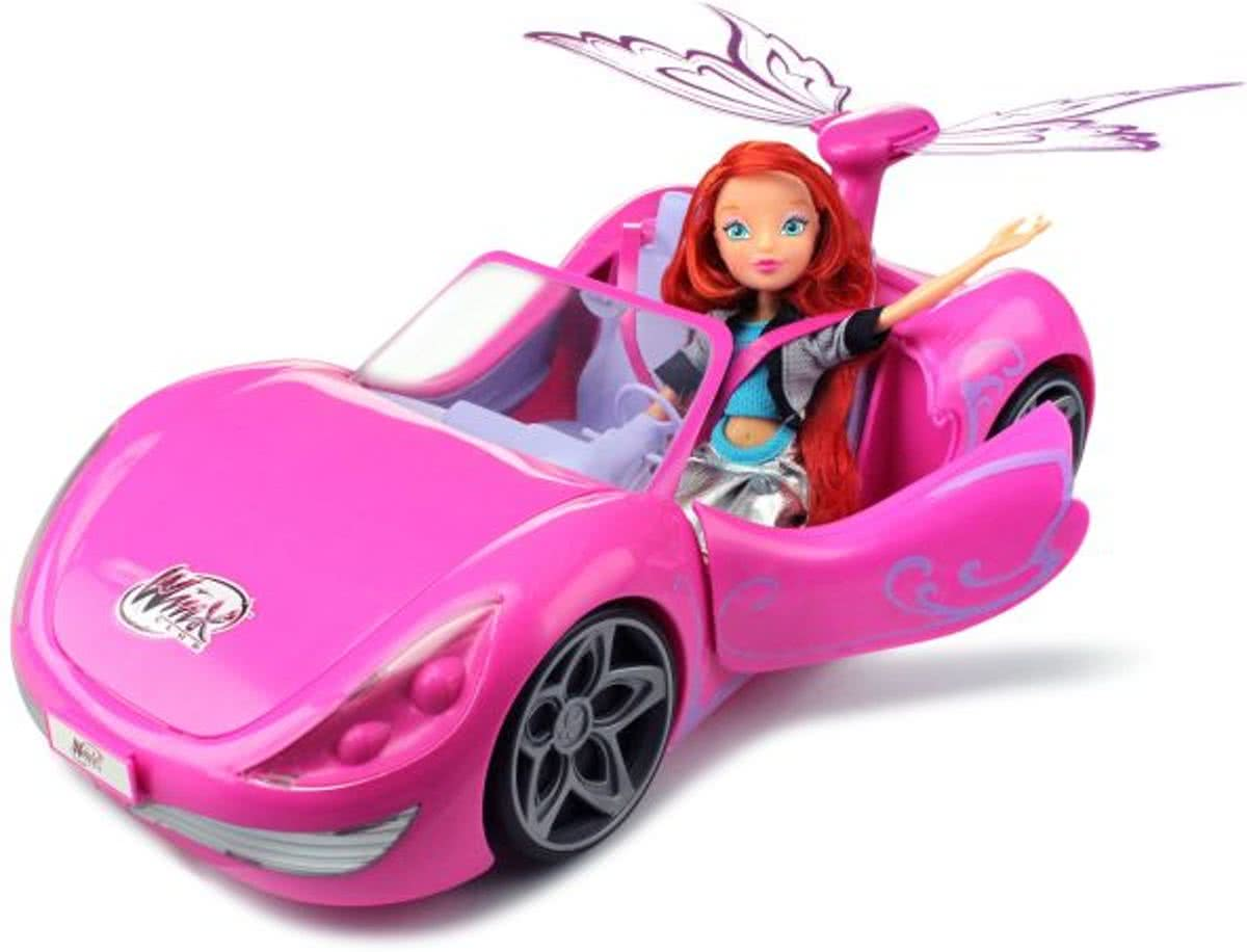 Club Bloom and Magical Car - Speelgoed auto met Pop - Cadeauset