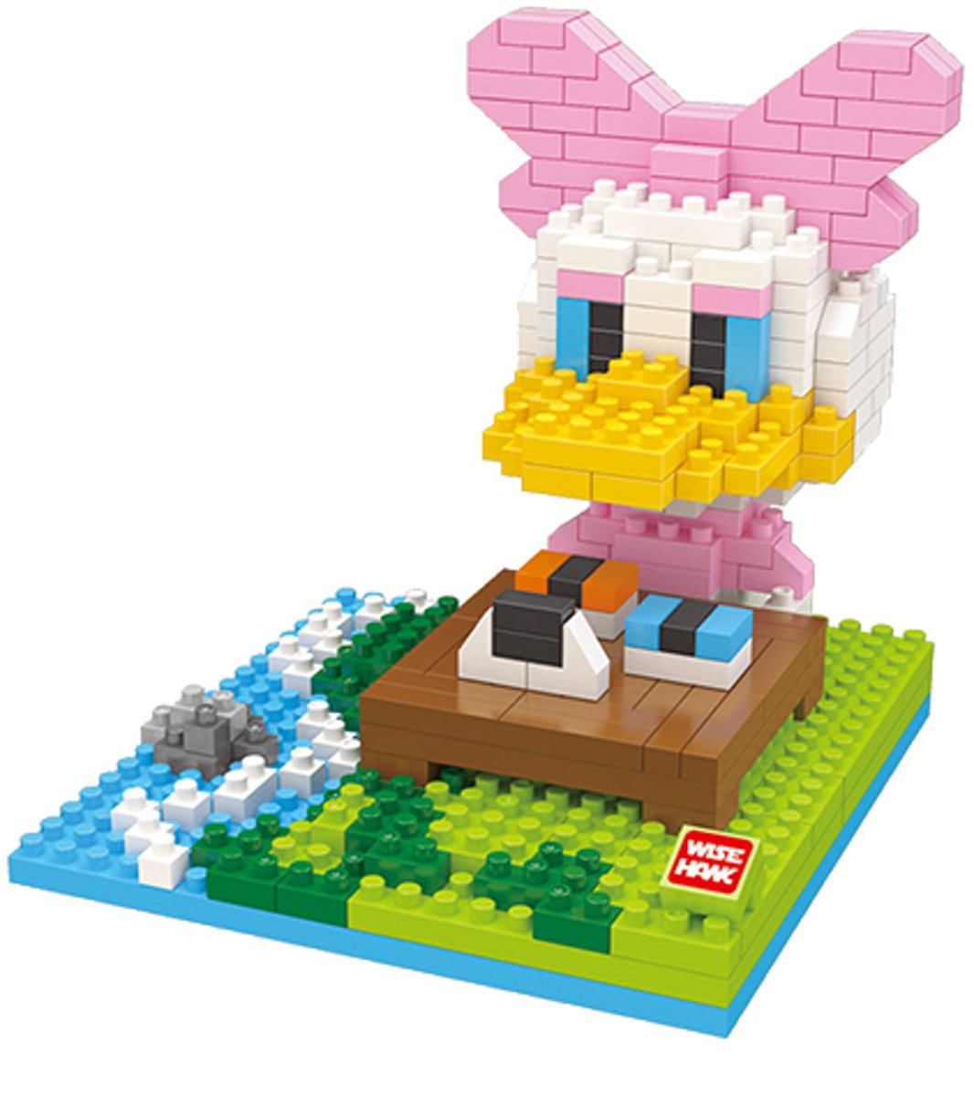 Nanoblocks Katrien Duck in het park - Wise hawk