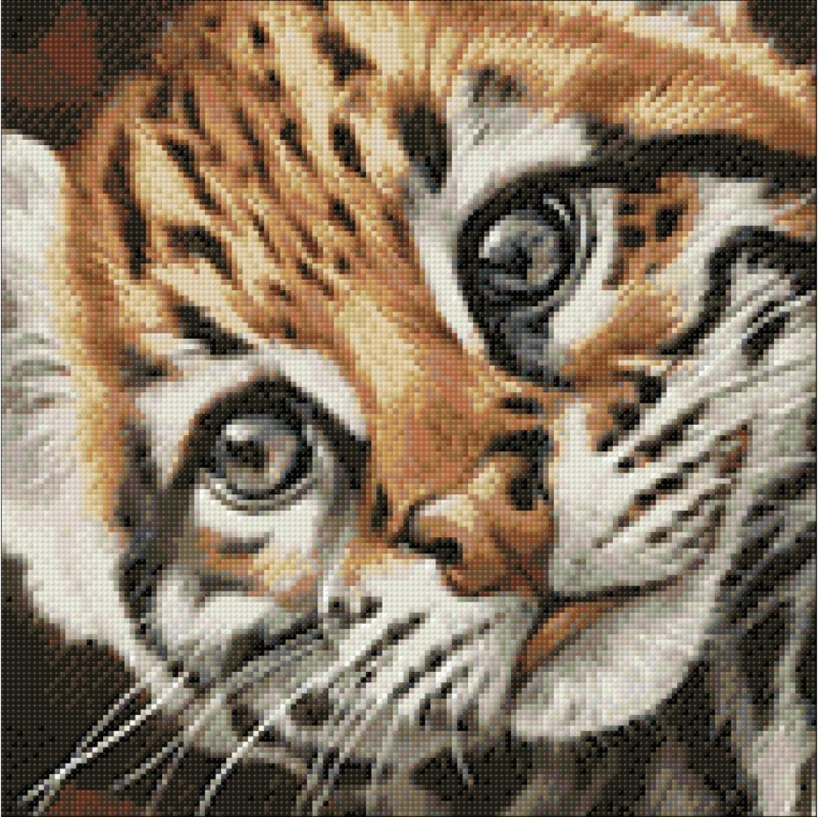 Wizardi Diamond Painting Kit Ocelot Kitten WD2427
