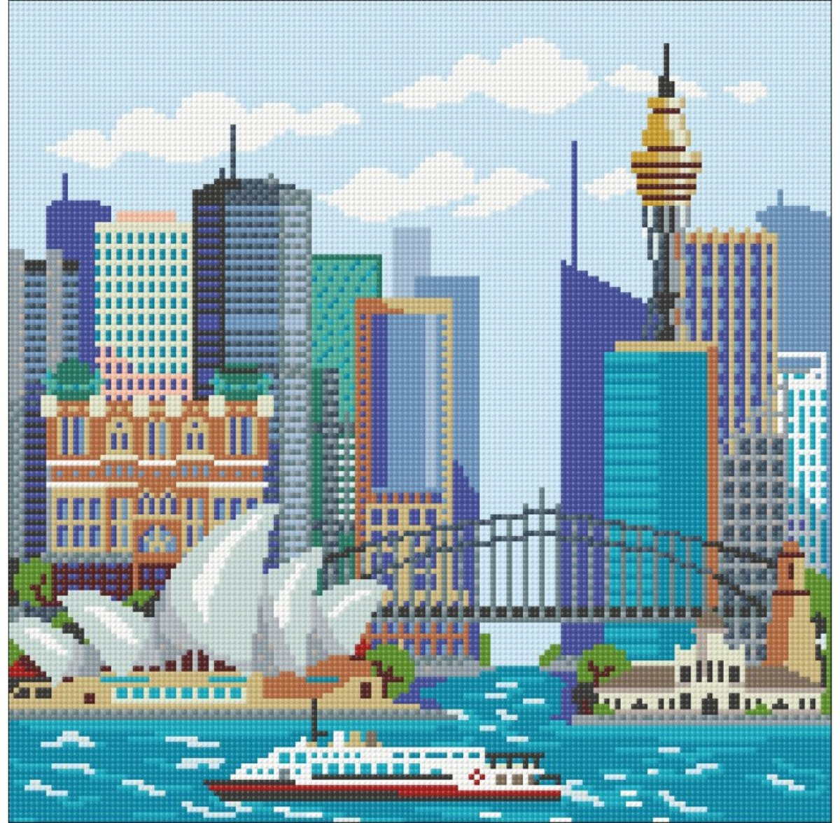Wizardi Diamond Painting Kit Sydney WD2449