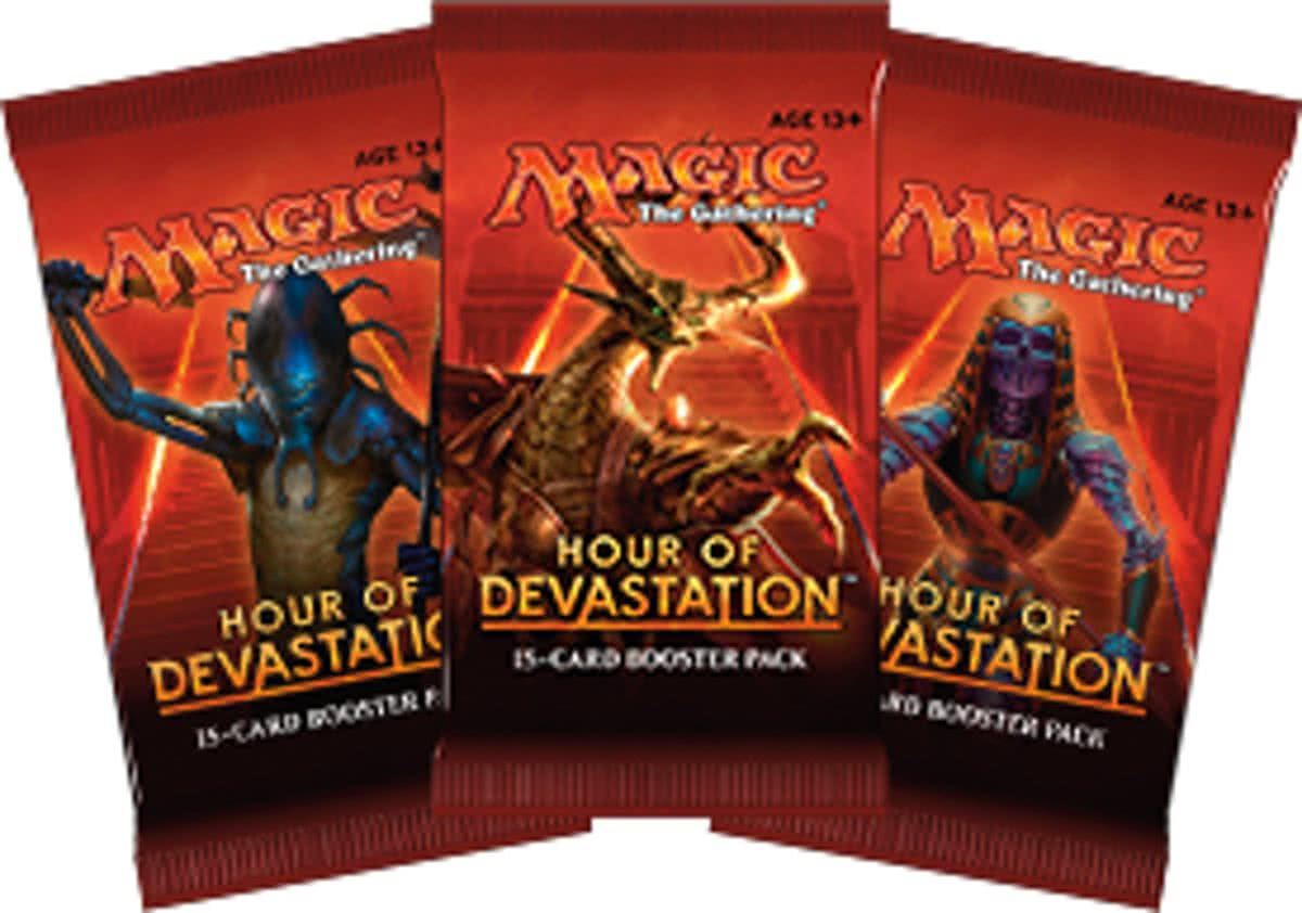 Magic The Gathering 3 Booster Pakjes Hour Of Devastation