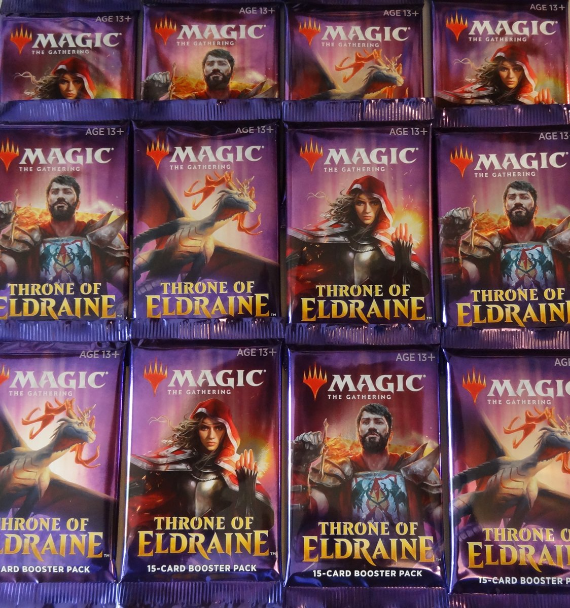 Magic the Gathering: 12 Boosters Throne of Eldraine