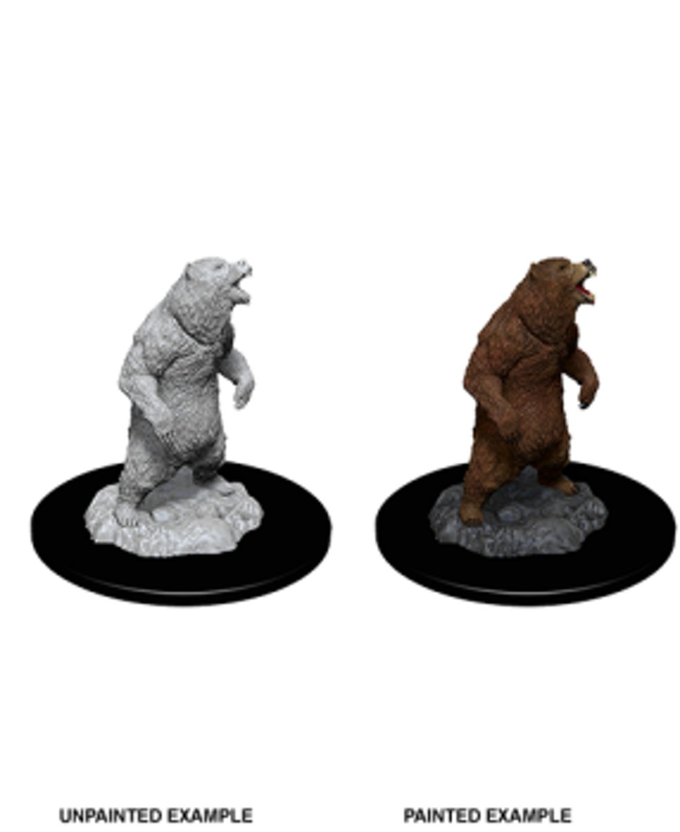 WizKids Deep Cuts Unpainted Miniatures - Grizzly