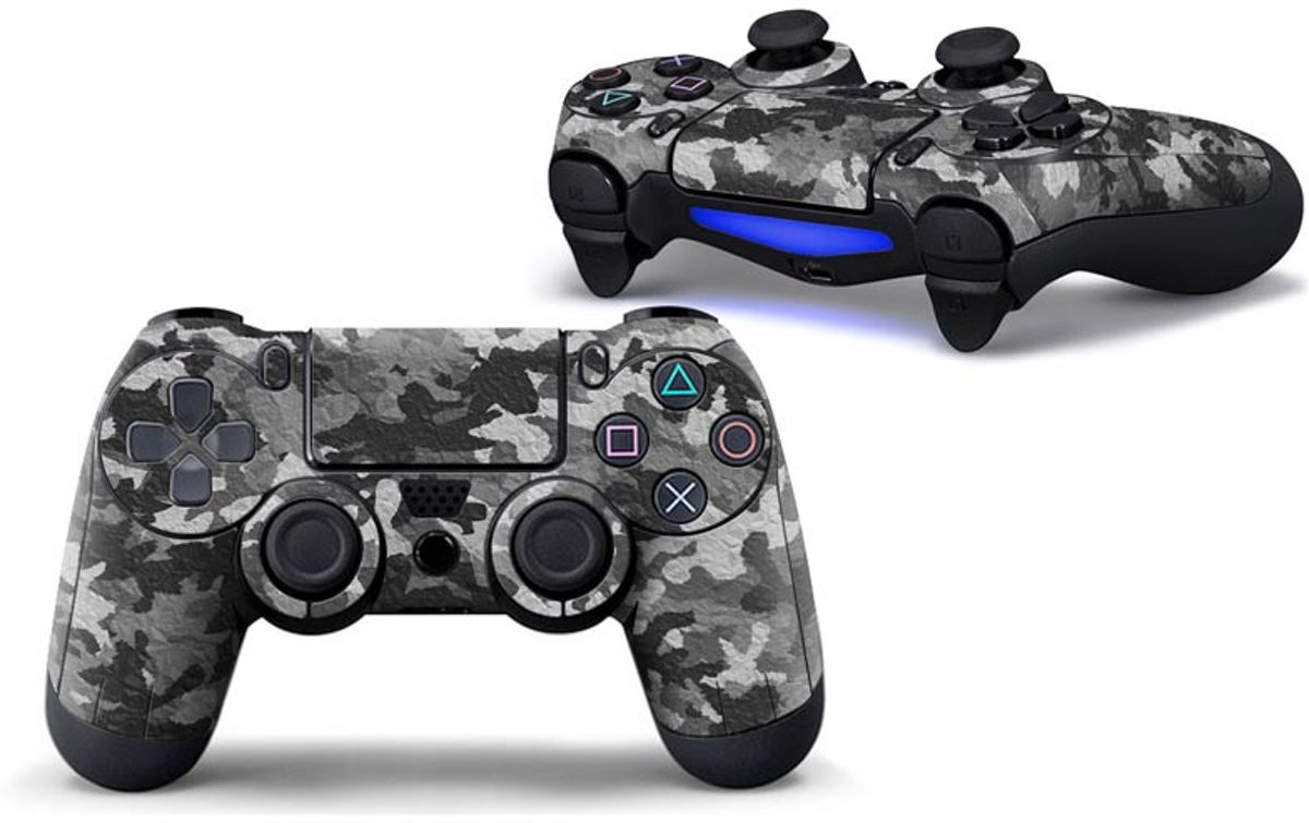 Camouflage Skin voor Playstation 4 Controller - PS4 Controller Sticker – Beige