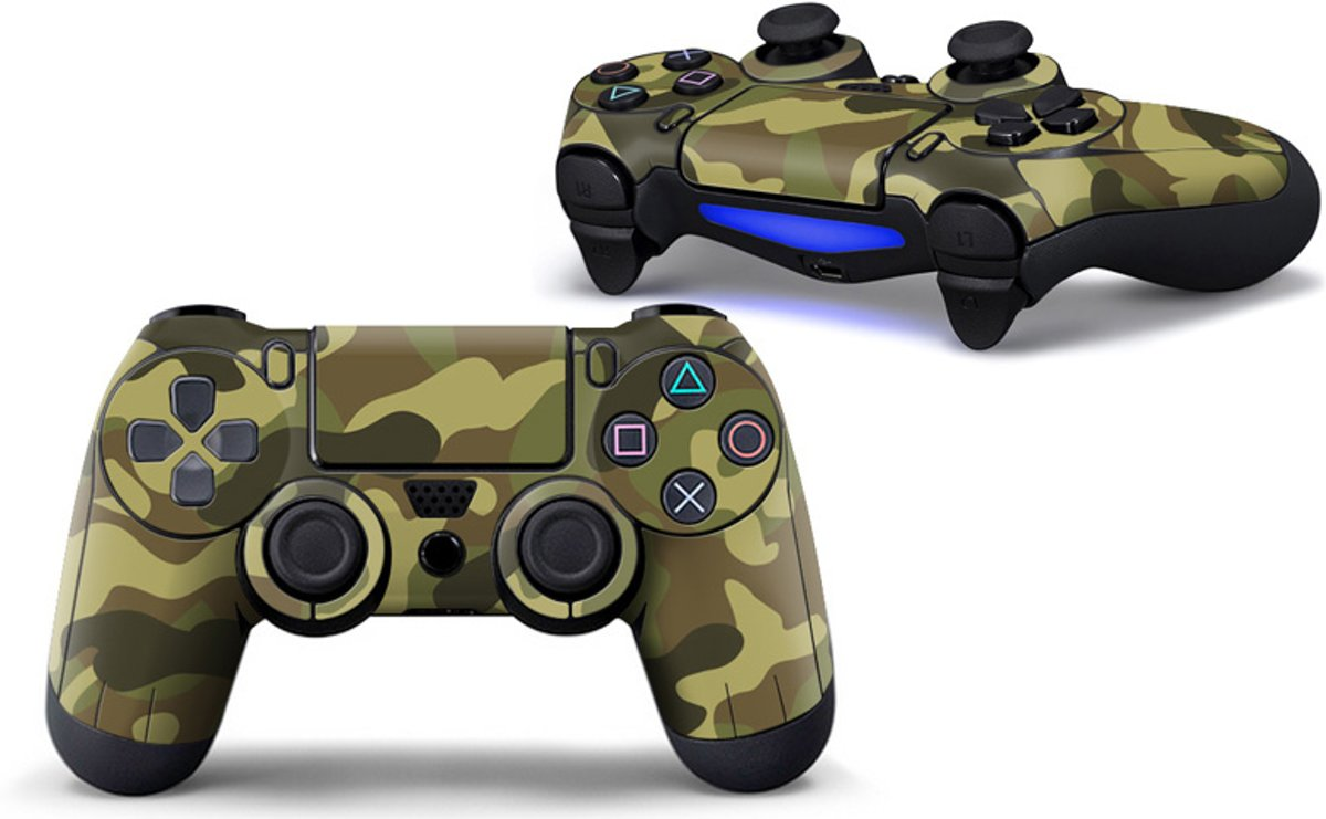 Camouflage Skin voor Playstation 4 Controller - PS4 Controller Sticker – Groen