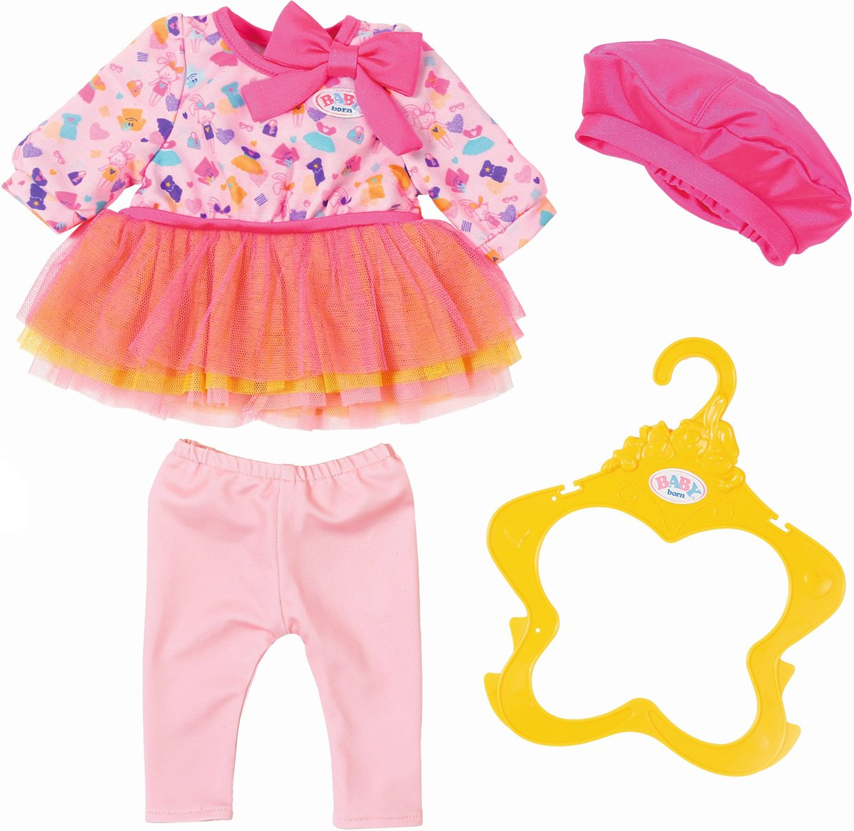1b2ac0000dd7e5 Roze jurkje met kant voor een babypop zoals Baby born ...