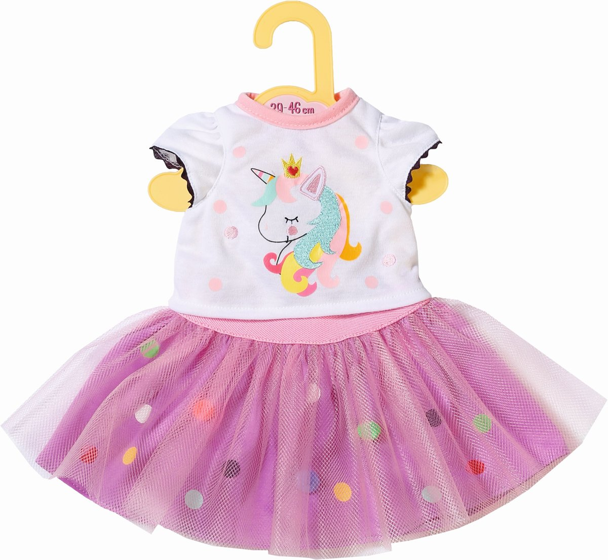 Dolly Moda Unicorn Shirt with Tutu 43cm