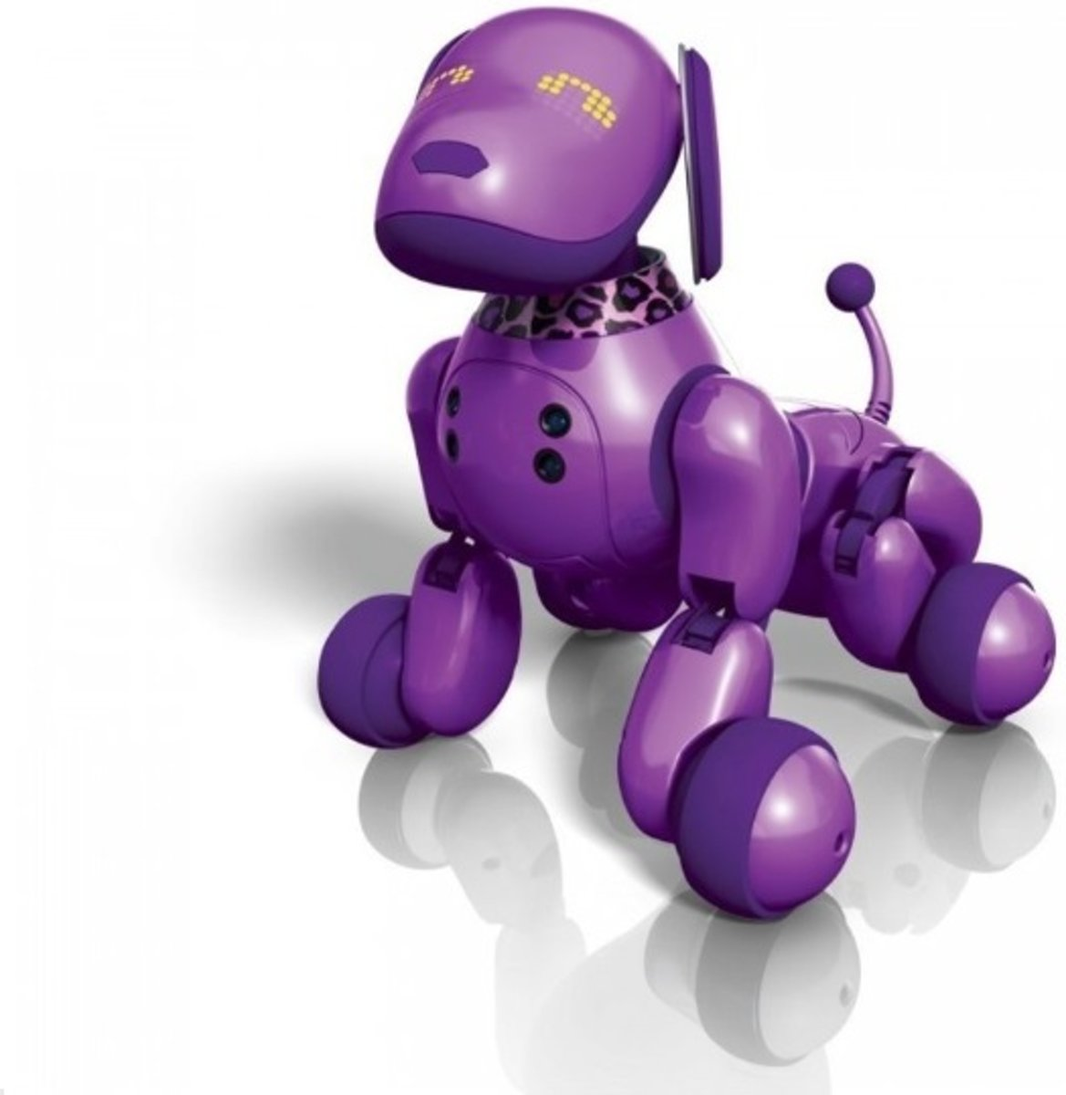 paarse hond - robot puppy - electronisch huisdier - incl. USB kabel