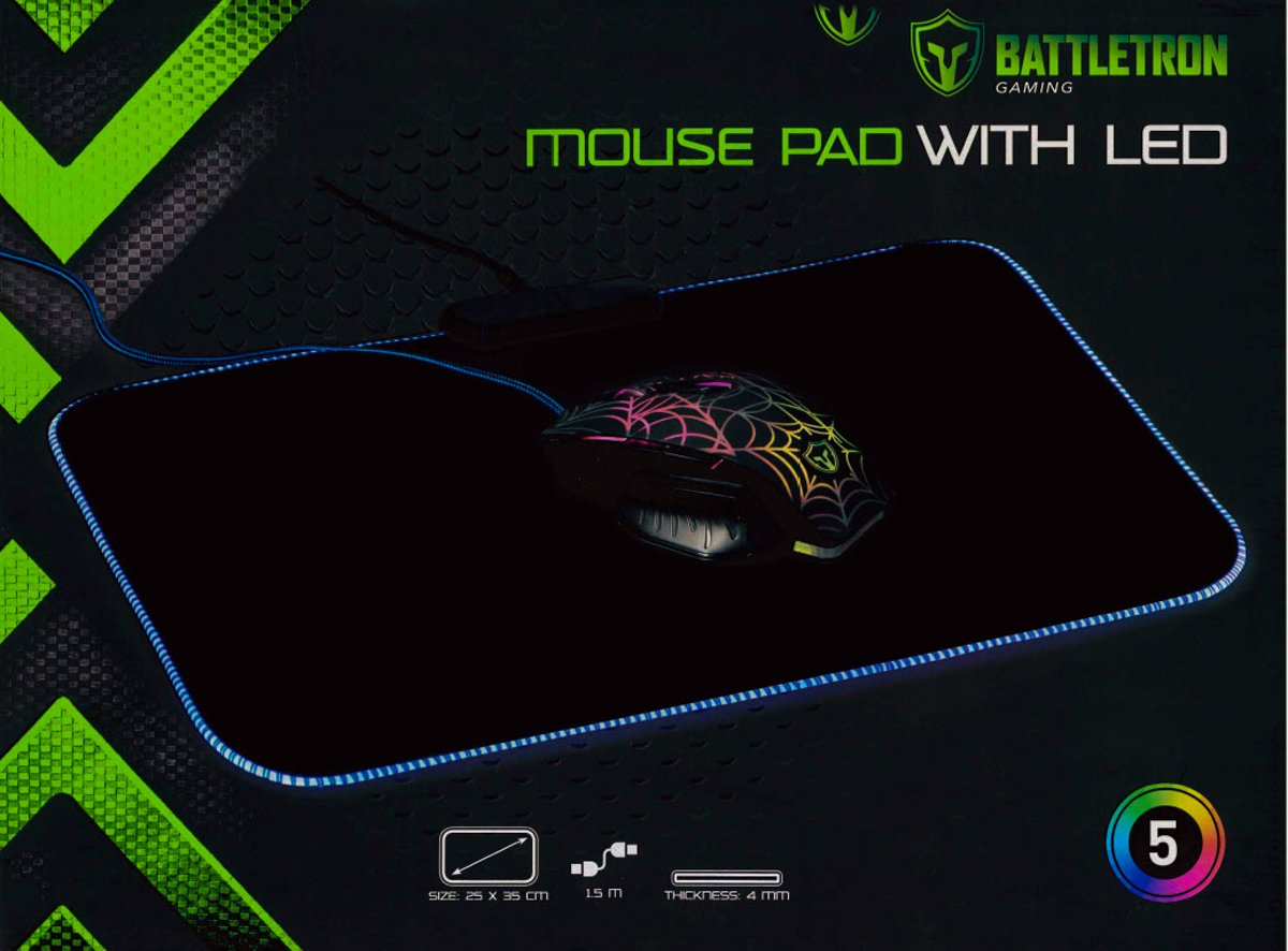 BATTLETRON LED MOUSE PAD - MUISMAT LED - NET NIEUW JANUARI 2020