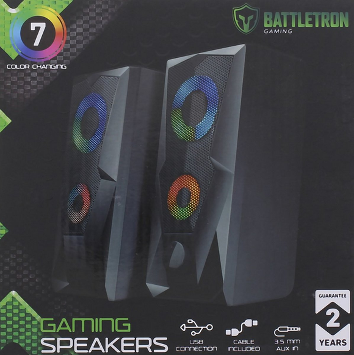 battletron gaming speakers - 7color changing