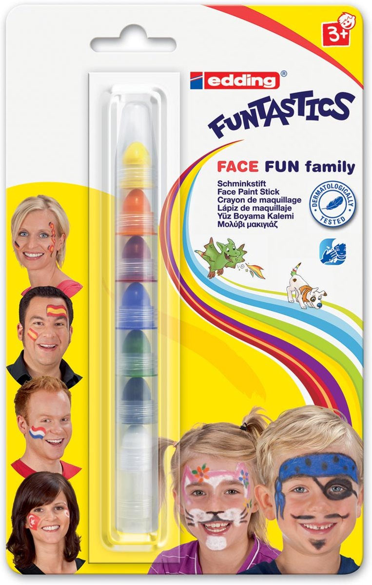 Funtastics Face Fun family stiftenset van Edding