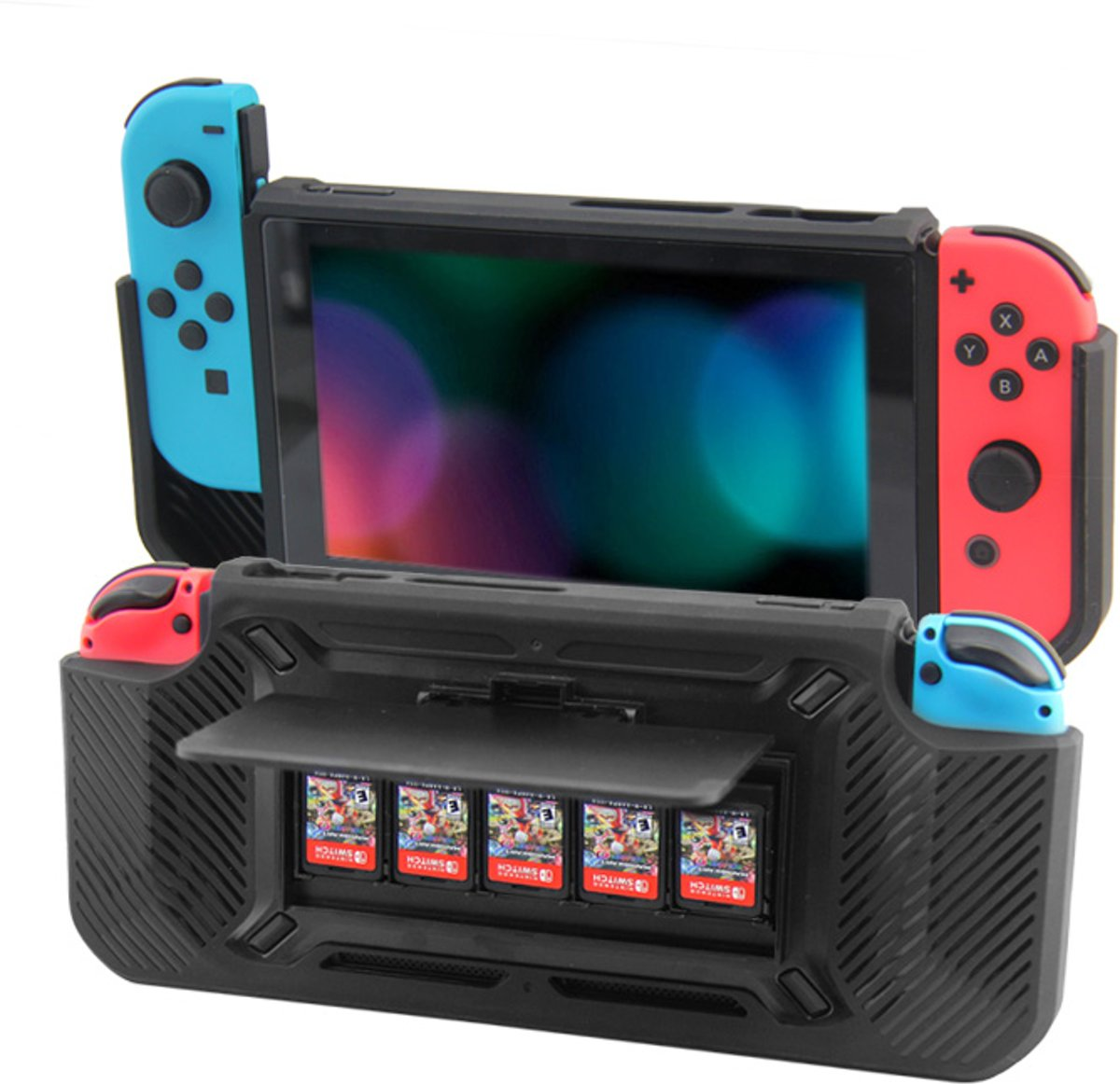 Nintendo Switch - Case, Standaard en Card Slot in één