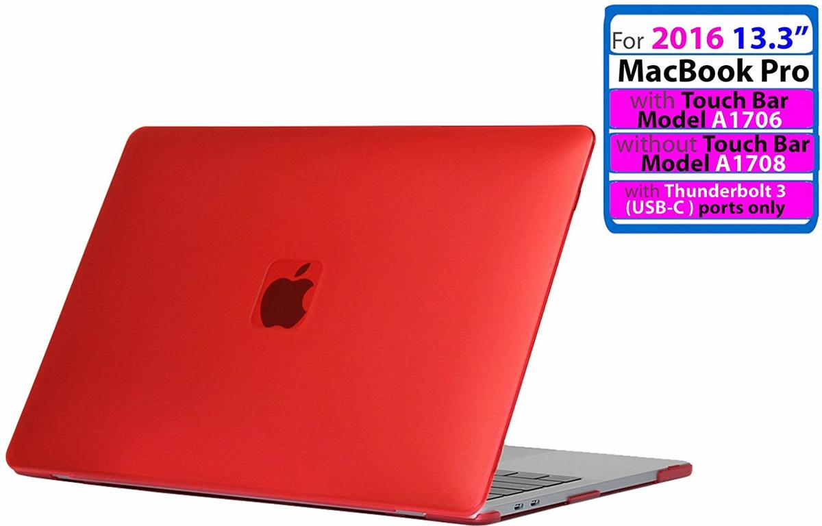 Ice-Satin Hard Shell Cover for (2016) Apple Macbook Pro 13 inch (Without Touch Bar) A1706 / A1708 - Rood