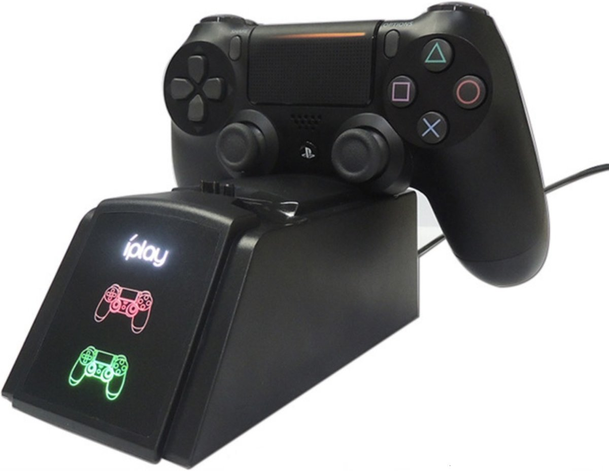 Dubbele oplaadstation ps4 | dual | led indicatoren | ps pro | ps slim | controller |  charging dock