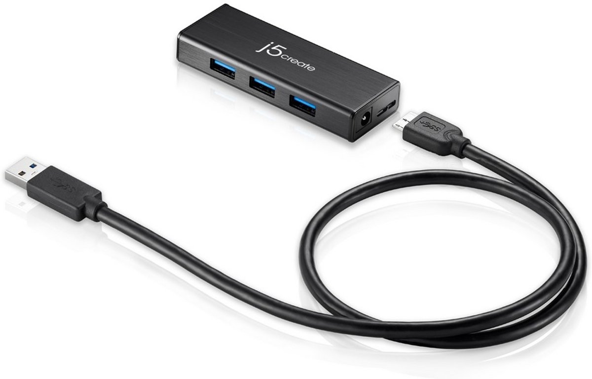 J5create USB 3.0 4-poort Mini HUB