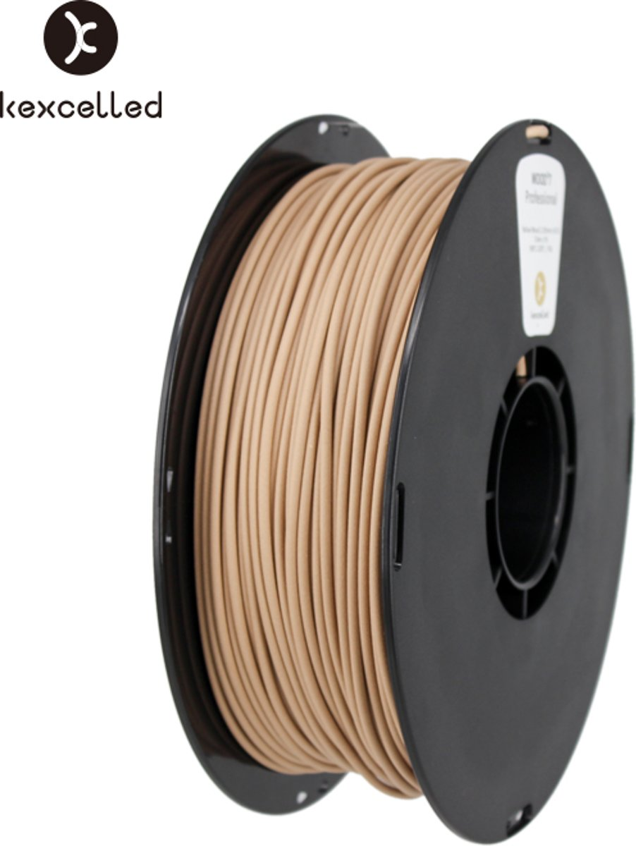 -wood PLA-1.75mm-yellow/geel-1000g(1kg)-3d printing filament