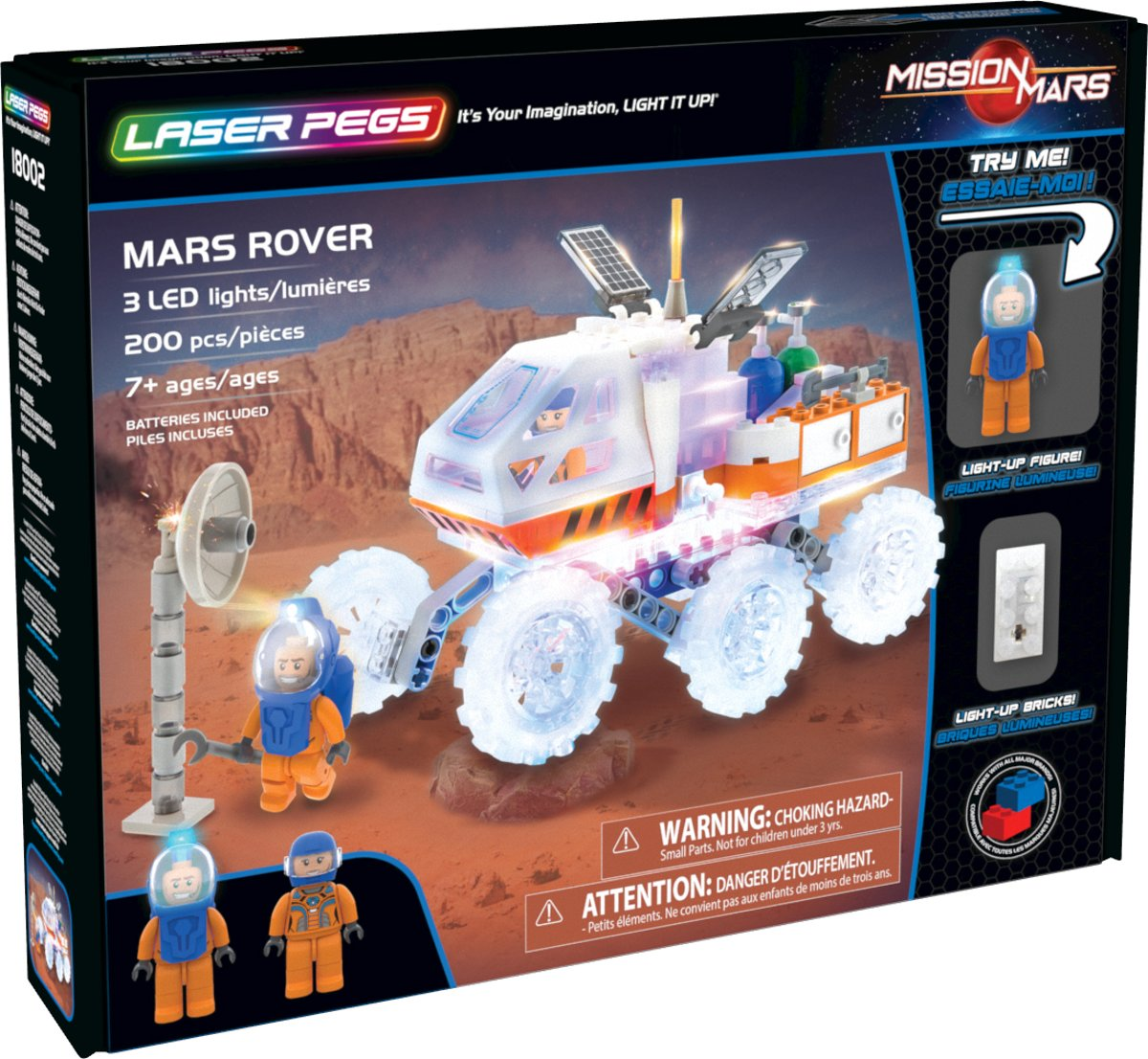 Laser Pegs Mission Mars Rover - Constructiespeelgoed