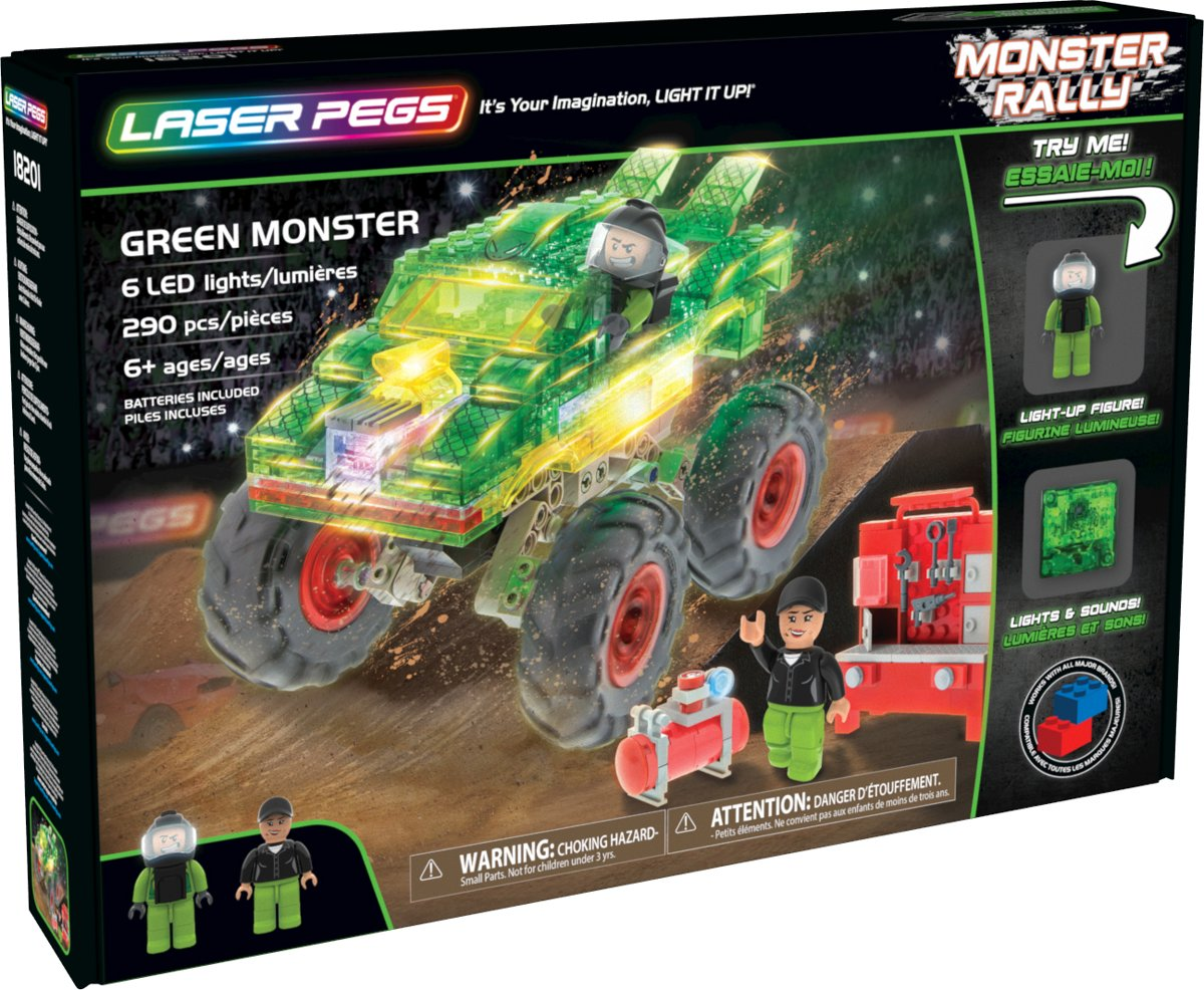 Laser Pegs Monster Truck Groen Monster - Constructiespeelgoed