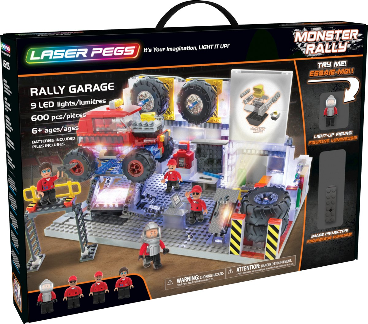 Laser Pegs Monster Truck Monster Rally Garage - Constructiespeelgoed