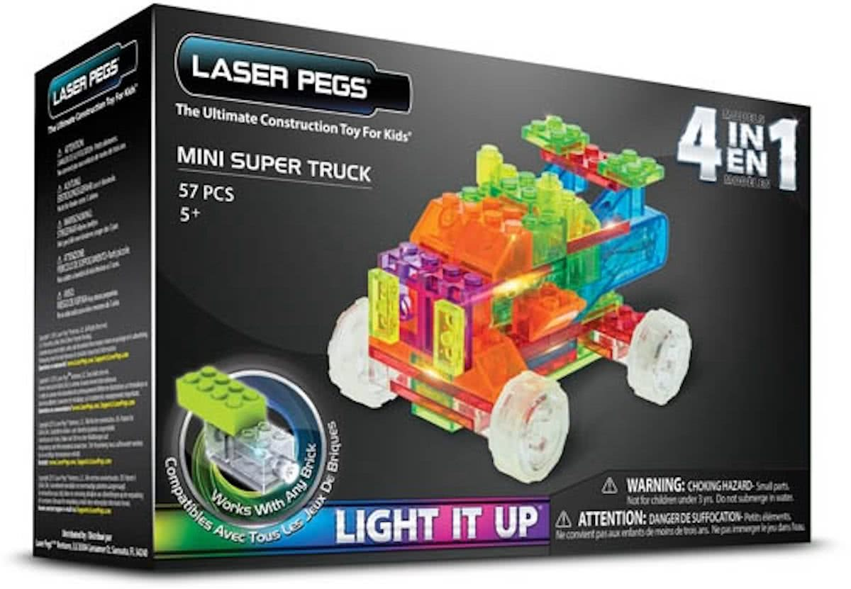 LaserPegs 4 in 1 Mini Super Truck