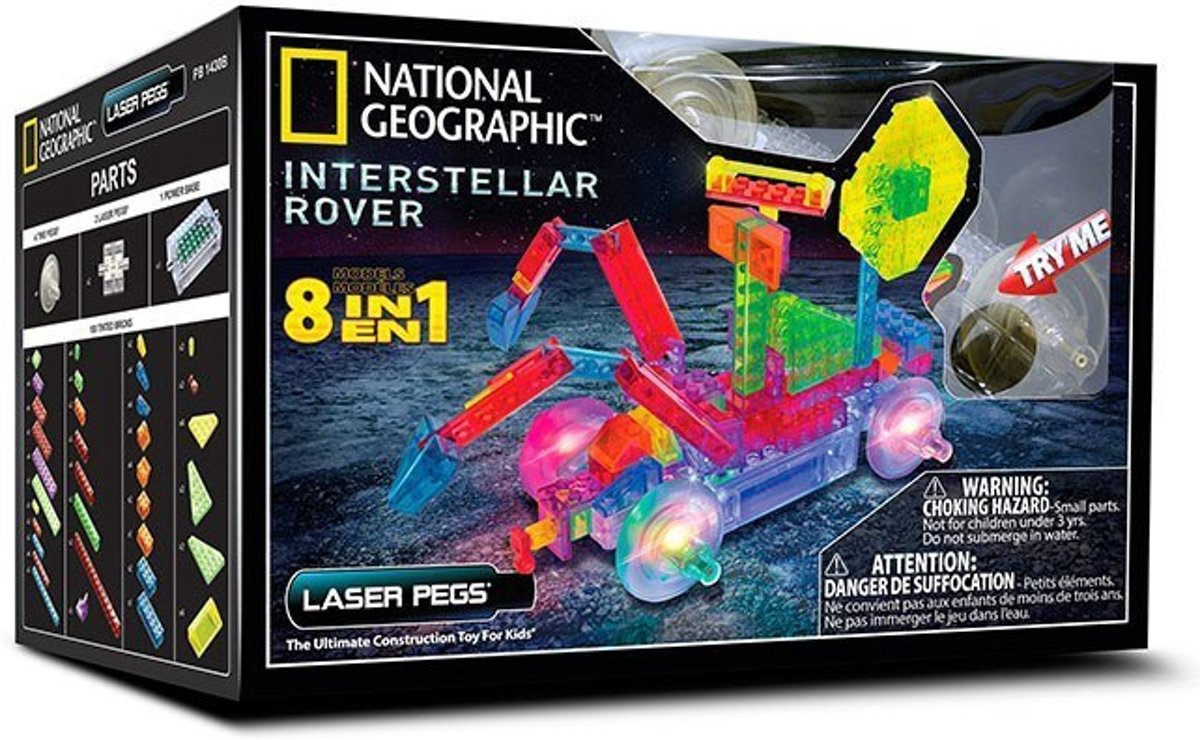 LaserPegs 8 in 1 Interstellar Rover National Geographic
