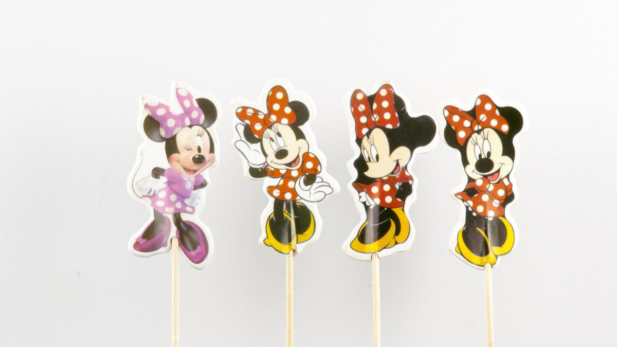 Disney Minnie Mouse | 24 stuks | cocktail prikker cupcake toppers