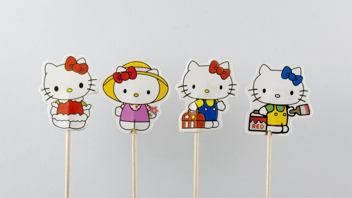 Hello Kitty | cocktail prikker cupcake toppers | 24 stuks