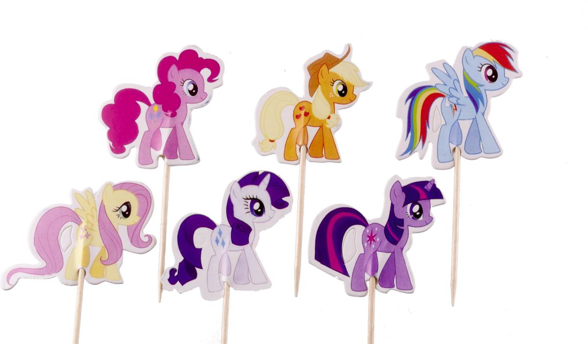 My Little Pony |24 stuks|cocktail prikker|cupcake toppers