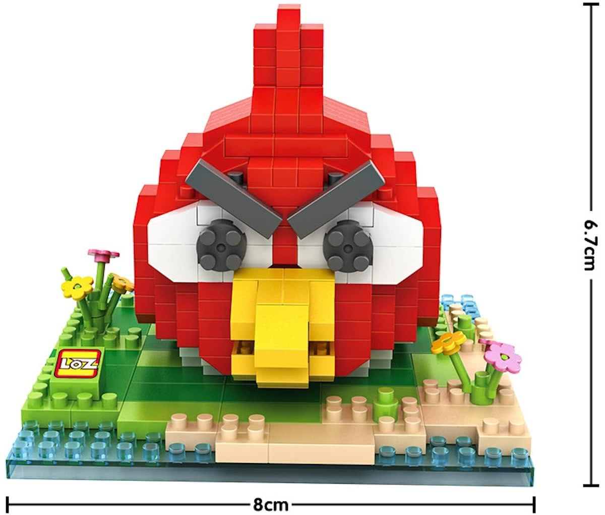 Angry bird, rood, LOZ, Diamond Blocks