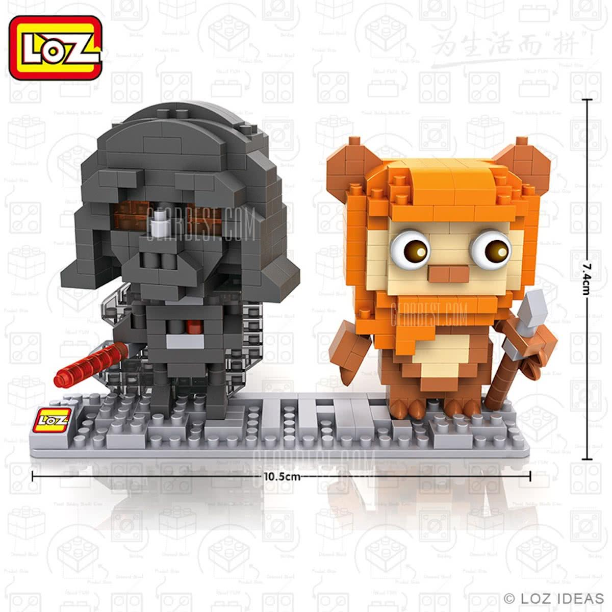 Darth Vader en Ewok, Star Wars, LOZ, Diamond BLocks