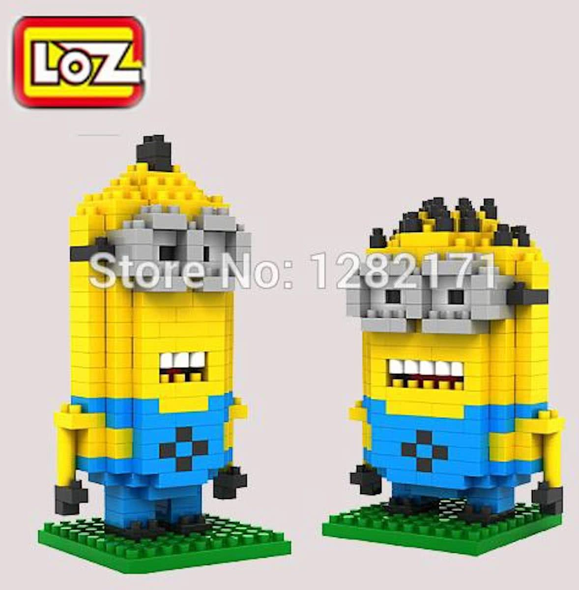 Mini-Minions Kevin en Dave in 1 verpakking  LOZ, DIamond Blocks