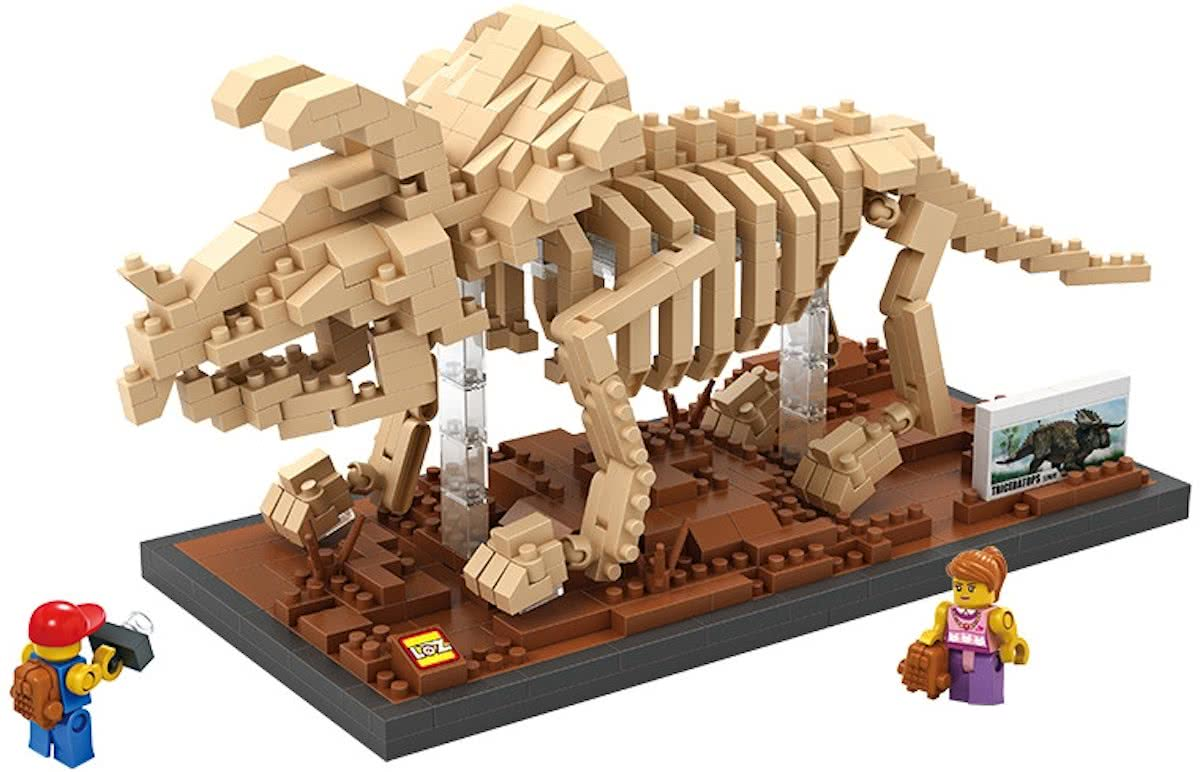 Triceratops, een imposante dinosaurus, LOZ, Diamond Blocks