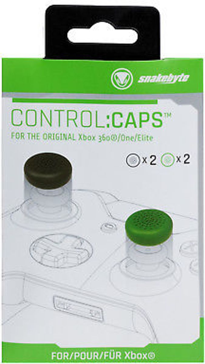 Snakebyte Xbox One Control:Caps Pack Black & Green