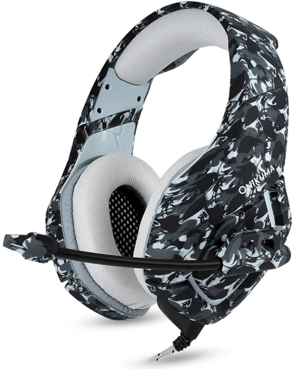 Gaming Headset- Headphone PC/ Playstation/ Xbox- Hoge kwaliteit gaming-Goede Bass- Grijze camouflage