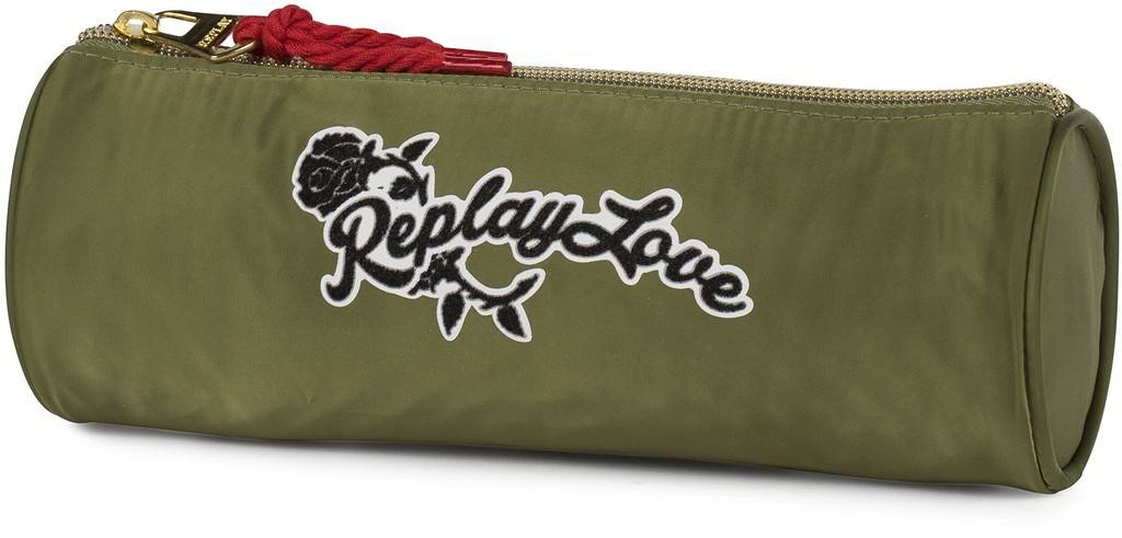 Etui Replay Girls green 8x23x8 cm
