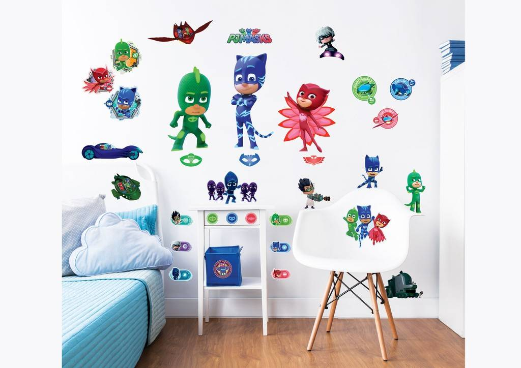 Muursticker PJ Masks Walltastic 33 stickers